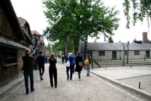 Auschwitz tours - tourists